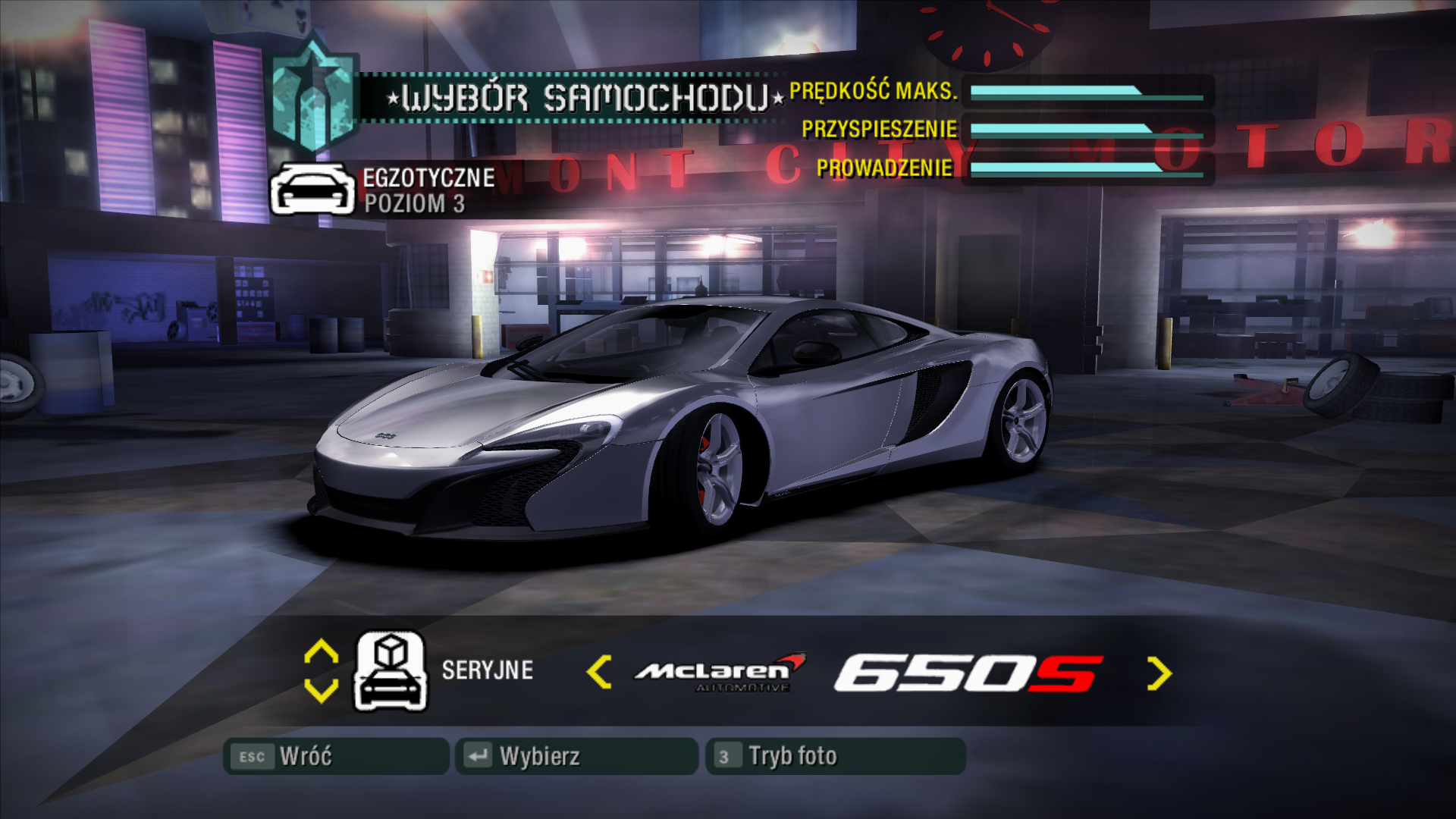 NFS - Need for Speed Carbon - Modyfikacje