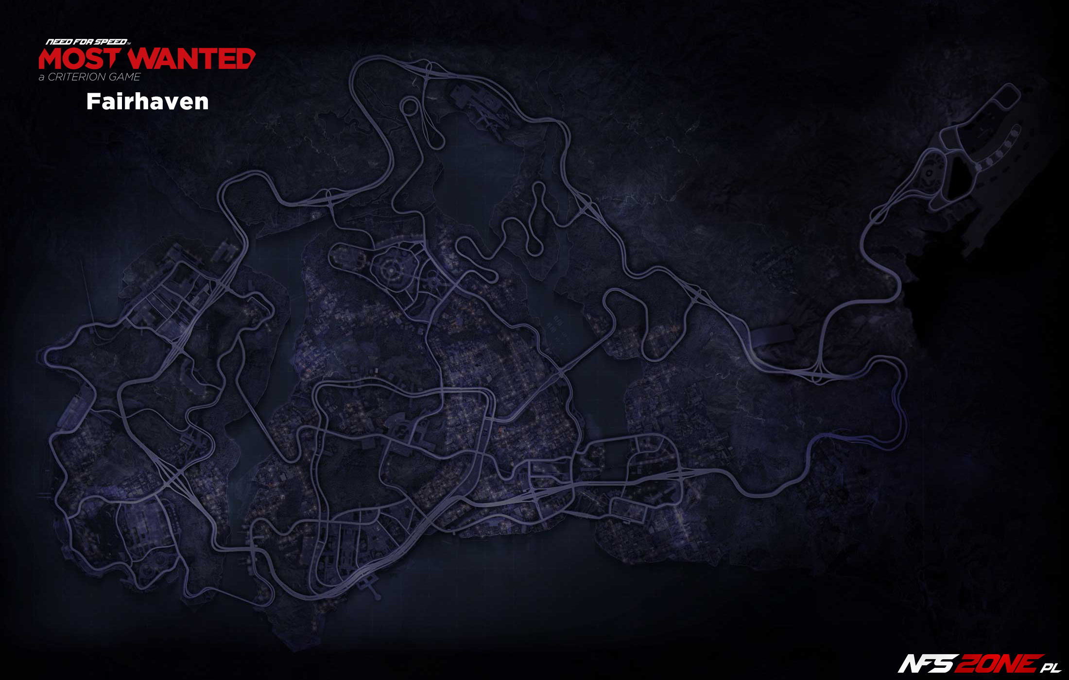 Mapa Fairhaven - NFS - Need for Speed Most Wanted (2012)