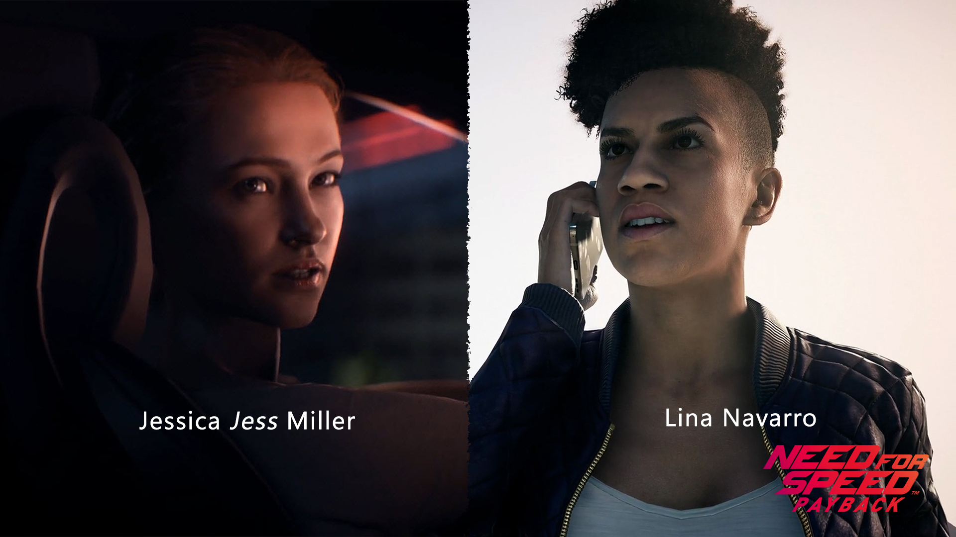 NFS - Need for Speed Payback - Jessica Jess Miller - Lina Navarro