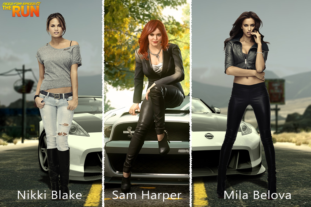 NFS - Need for Speed The Run - Sam Harper - Mila Belova - Nikki Blake