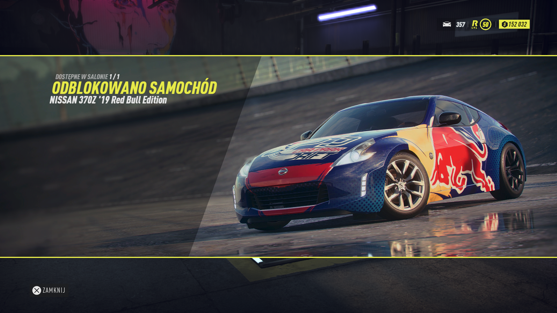 NFS - Need for Speed Heat - Nissan 370 Z Red Bull
